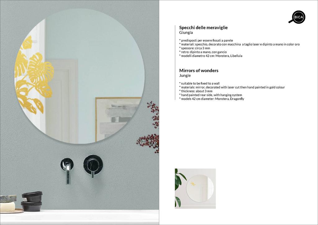 Specchi grandi Giungla | specchio tondo decorato di design italiano | specchi decorati  | BiCA-Good Morning Design