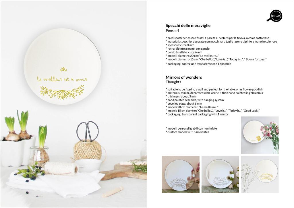 Specchi con scritte, personalizzabili | specchio tondo decorato di design italiano | specchi decorati  | BiCA-Good Morning Design