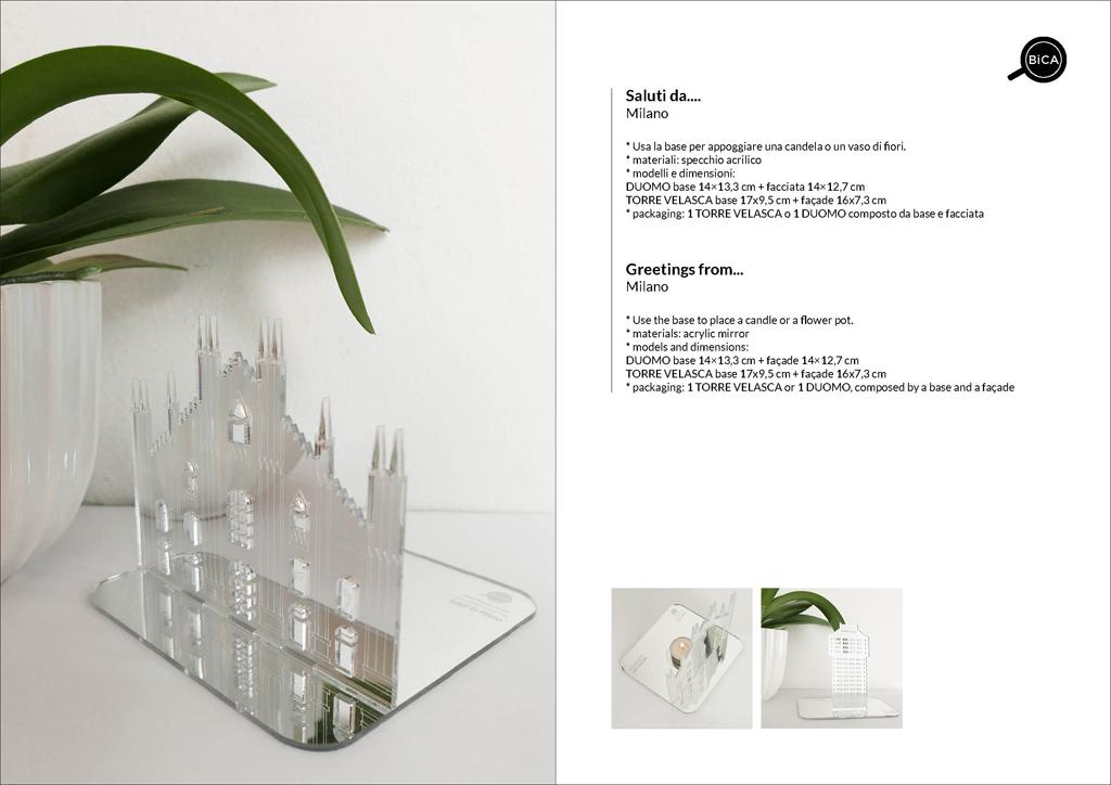 Duomo di Milano e Torre Velasca in Specchio | Souvenir Milano | Milano Design | BiCA-Good Morning Design