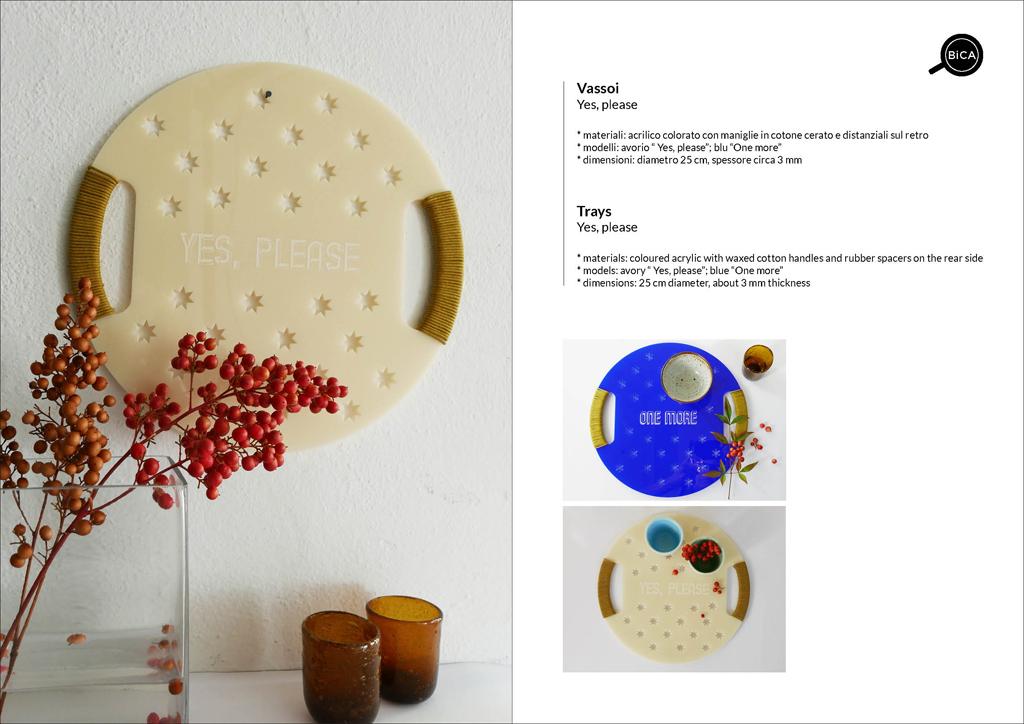 Vassoi di design con scritte | vassoio decorato | Milano Design | BiCA-Good Morning Design