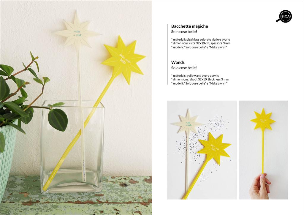 Bacchette Magiche con messaggi e scritte | idee regalo bambini, eventi, feste | Milano Design |BiCA-Good Morning Design