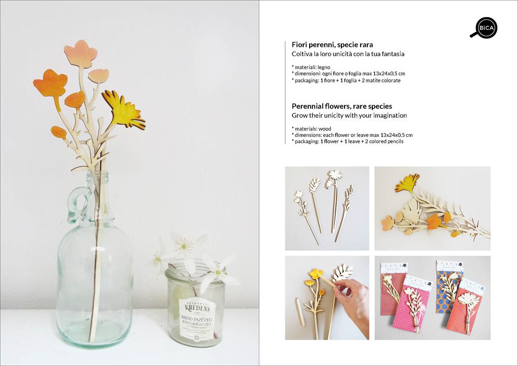 Fiori Perenni da decorare in legno personalizzabili con messaggi e scritte | fiori decorativi | idee regalo bambini, feste | BiCA-Good Morning Design