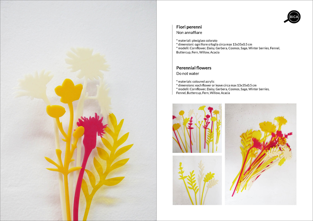 Fiori Perenni in acrilico personalizzabili con messaggi e scritte | fiori decorativi | idee regalo eventi, feste, matrimonio | BiCA-Good Morning Design