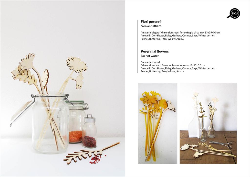 Fiori Perenni in legno personalizzabili con messaggi e scritte | fiori decorativi | idee regalo eventi, feste, matrimonio | BiCA-Good Morning Design