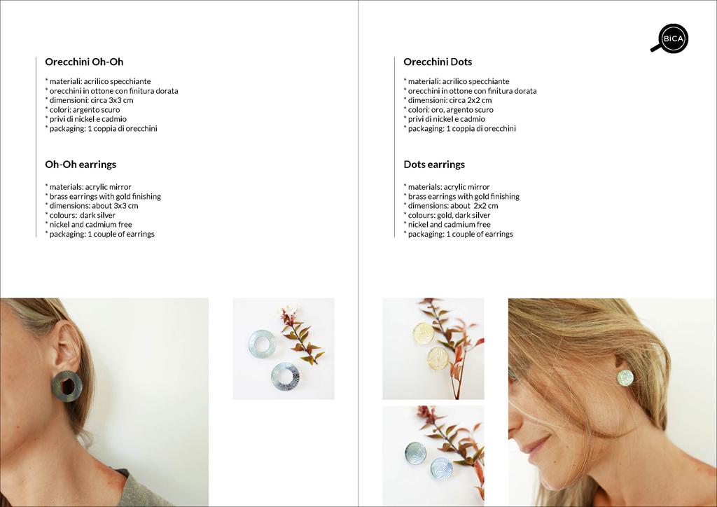 Orecchini  design | statement earrings | design italiano | orecchini Milano design | Orecchini shop online | BiCA-Good Morning Design