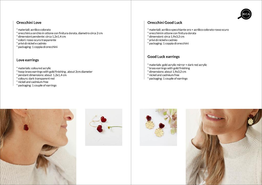 orecchini cuore minimal | design italiano | orecchini Milano design | Orecchini shop online | BiCA-Good Morning Design