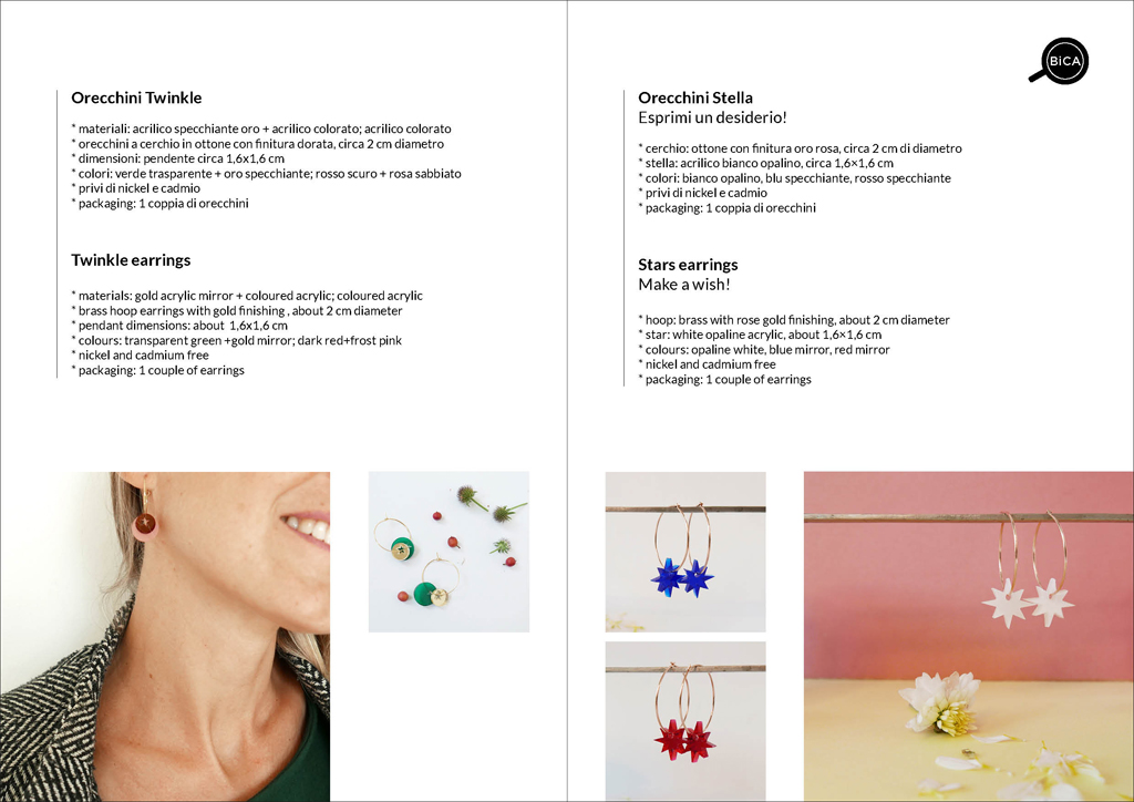 Orecchini Stella | orecchini Milano design | Orecchini shop online | BiCA-Good Morning Design