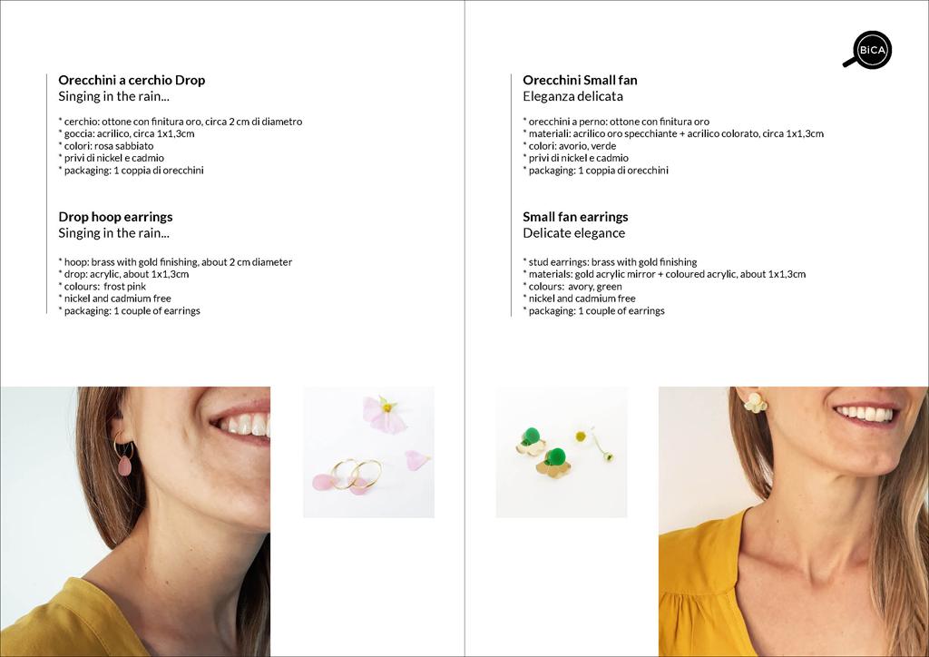 orecchini geometrici Milano design | orecchini shop online spedizioni gratis | BiCA-Good Morning Design
