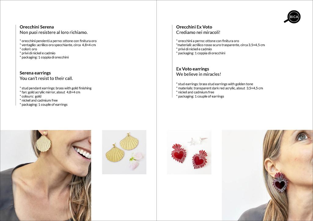 Orecchini ex voto cuore | Milano design |orecchini  shop online spedizioni gratis | BiCA-Good Morning Design
