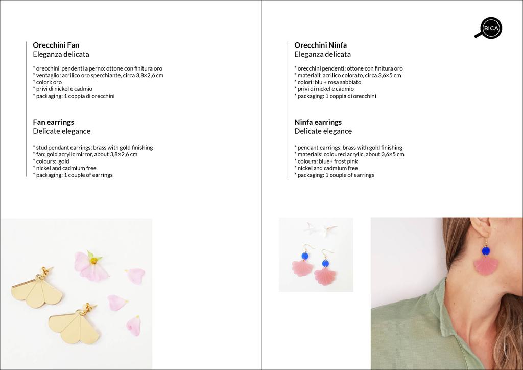 orecchini pendenti oro e rosa | Milano design | shop online spedizioni gratis | BiCA-Good Morning Design