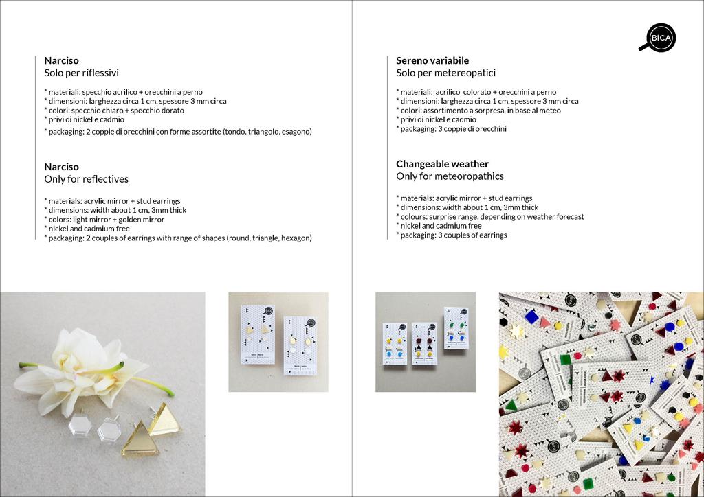 orecchini geometrici e minimal| Milano shop online spedizioni gratis | BiCA-Good Morning Design
