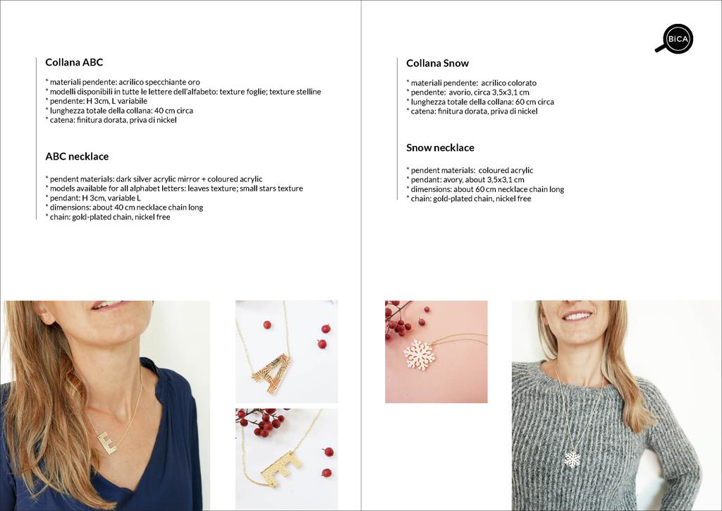 collane lettere personalizzate BiCA-Good Morning Design