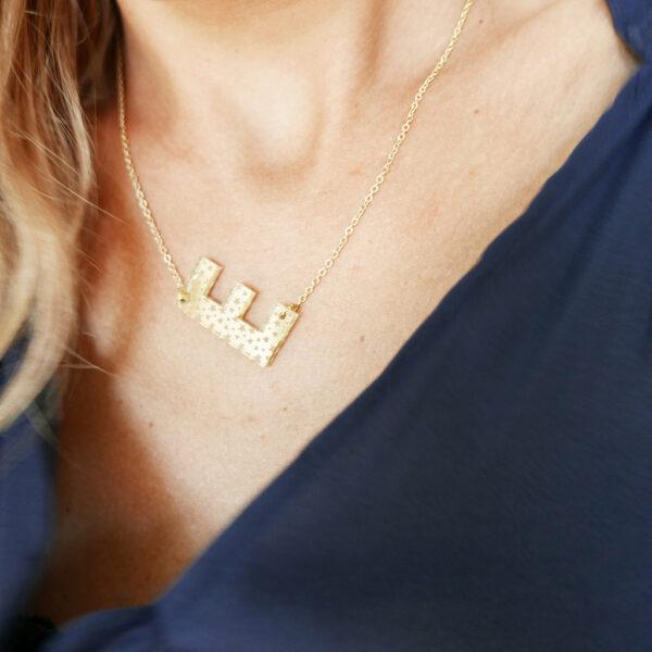 ABC. STELLE | COLLANA PERSONALIZZABILE CON INIZIALI | Collana minimal personalizzabile con lettere alfabeto | BiCA-Good Morning Design