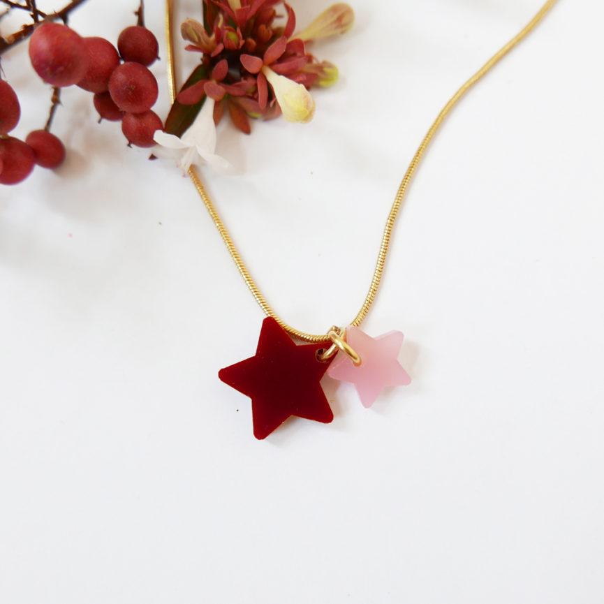 STELLA STELLINA. COLLANA con stelle | collana girocollo serpentina dorata minimal | Regalo Natale e San Valentino | BiCA-Good Morning Design