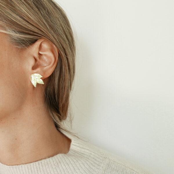 AUTUNNO ORECCHINI | orecchini foglie oro | BiCA-Good Morning Design