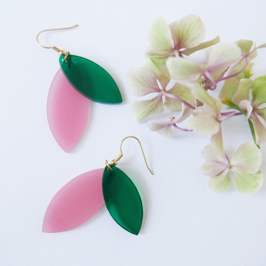 FOLIAGE ORECCHINI | orecchini pendenti foglie colorate| BiCA-Good Morning Design