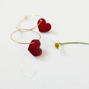LOVE. ORECCHINI A CERCHIO | orecchini pendenti con cuore | Regalo Natale e San Valentino | BiCA-Good Morning Design