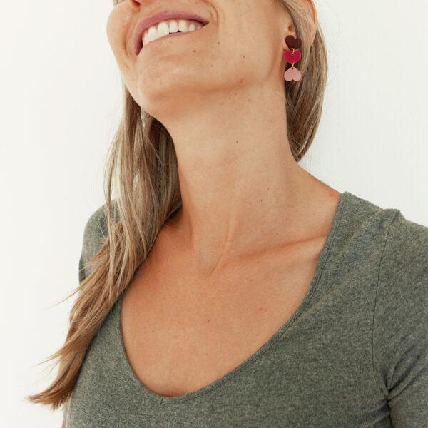XXX. ORECCHINI CUORI   orecchini pendenti con cuori   Regalo Natale e San Valentino   BiCA-Good Morning Design
