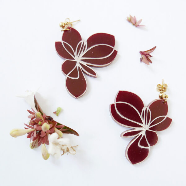 Blossom | orecchini floreali | flowers statement earrings BiCA-Good Morning Design