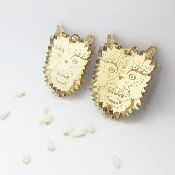 Drago Orecchini Zodiaco Cinese oro | Oroscopo cinese | calendario cinese | BiCA-Good Morning Design