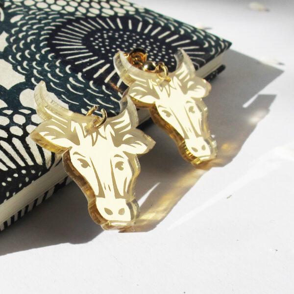 Orecchini Bue Zodiaco Cinese oro | Oroscopo cinese | calendario cinese | BiCA-Good Morning Design