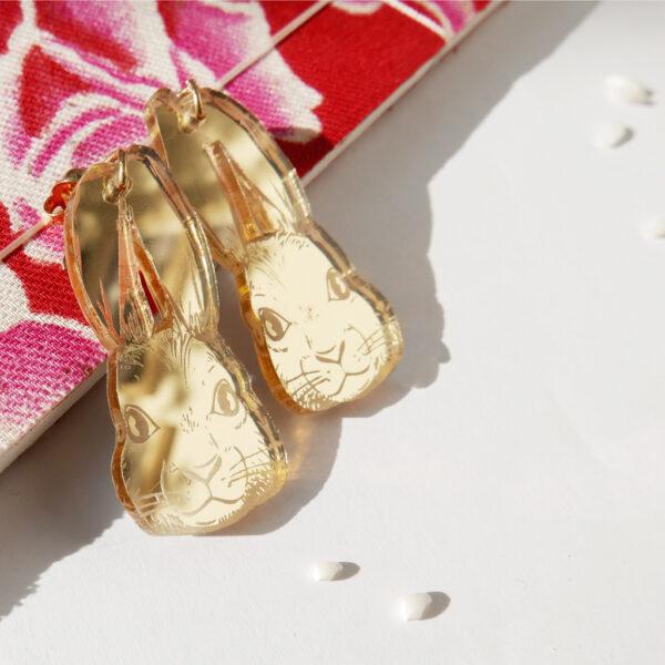Coniglio Orecchini Zodiaco Cinese oro | Oroscopo cinese | calendario cinese | BiCA-Good Morning Design