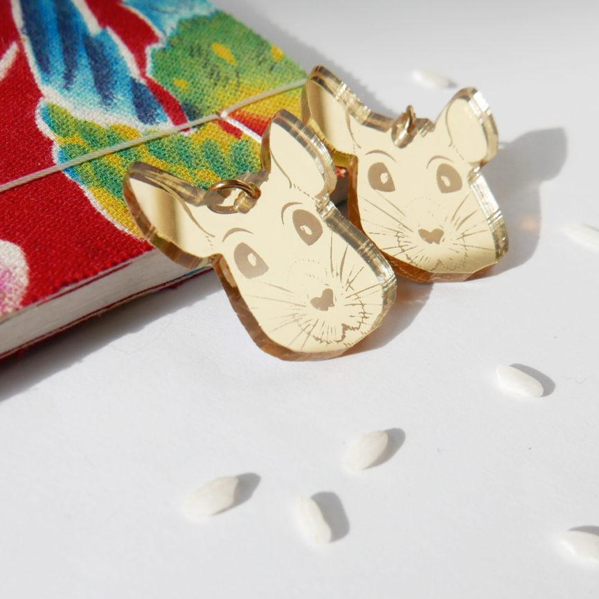 Topo Orecchini Zodiaco Cinese oro | Oroscopo cinese | calendario cinese | BiCA-Good Morning Design