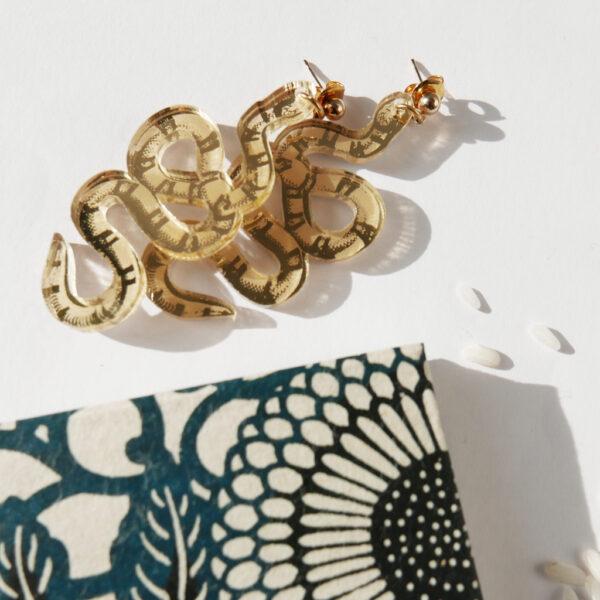 Serpente Orecchini Zodiaco Cinese oro | Oroscopo cinese | calendario cinese | BiCA-Good Morning Design