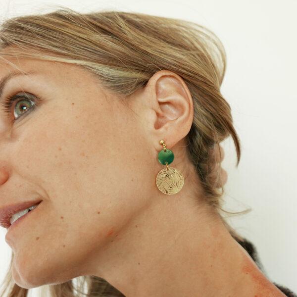 Doble Dots orecchini pendenti tondi | orecchini geometrici | BiCA-Good Morning Design