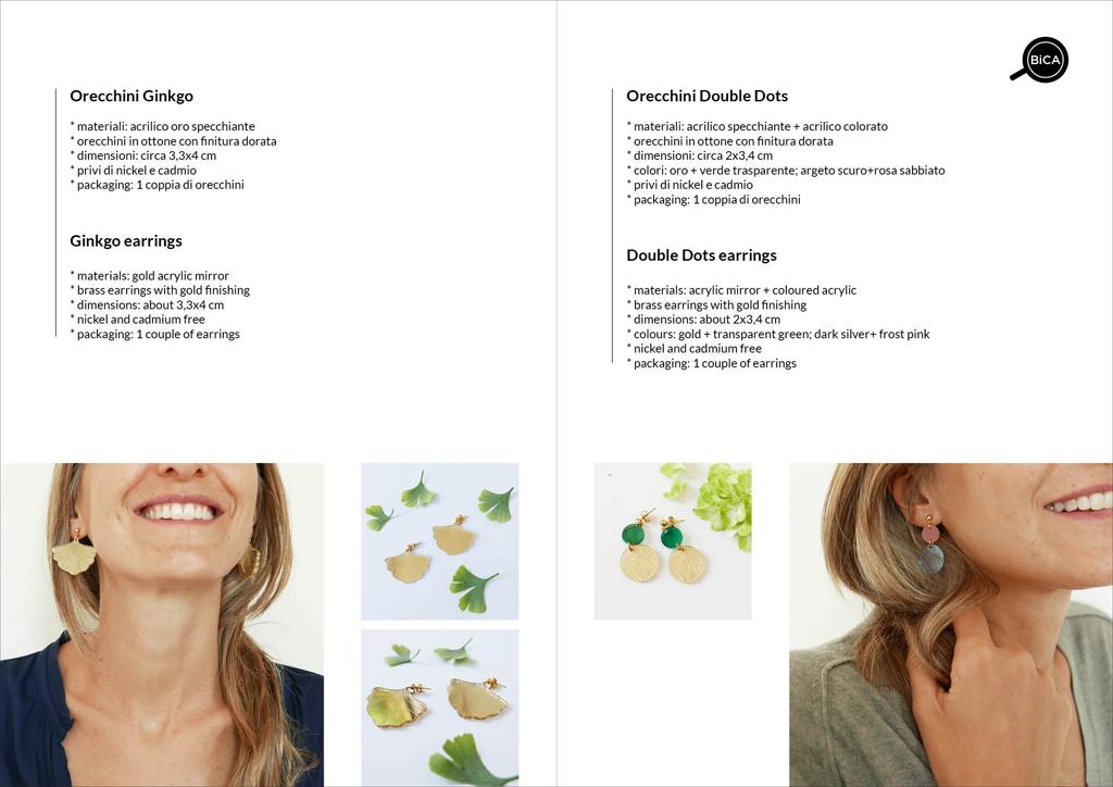 Orecchini foglie colorati | orecchini pendenti | Gioielli e accessori design italiano | orecchini Milano design | Orecchini shop online | BiCA-Good Morning Design