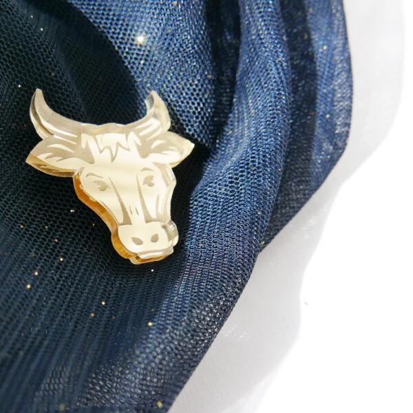 BUE | SPILLA Zodiaco Cinese oro | Oroscopo cinese | OROSCOPO calendario cinese | BiCA-Good Morning Design