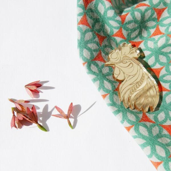 GALLO | SPILLA Zodiaco Cinese oro | Oroscopo cinese | OROSCOPO calendario cinese | BiCA-Good Morning Design