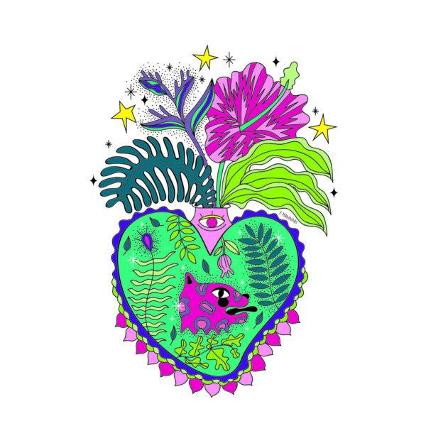 Cuore Sacro Laico | Ex-Voto | illustrazione di Enrica Mannari per BiCA-Good Morning Design