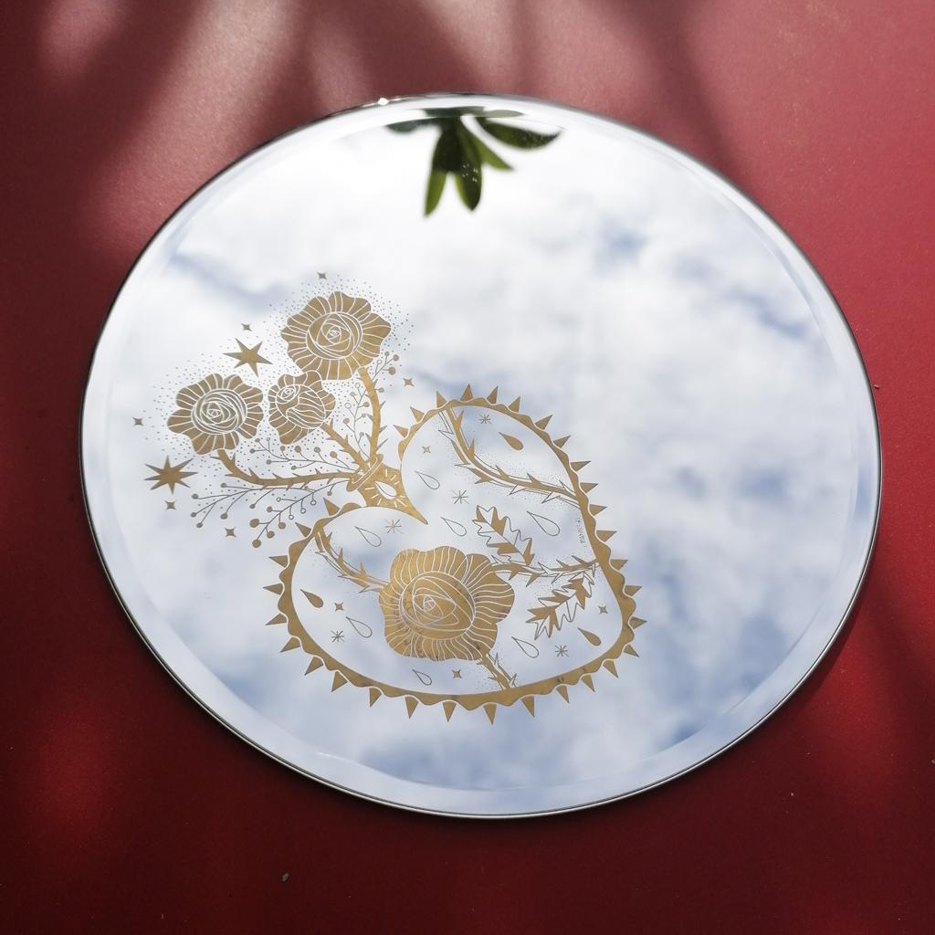 Enrica Mannari specchio ex voto cuore sacro