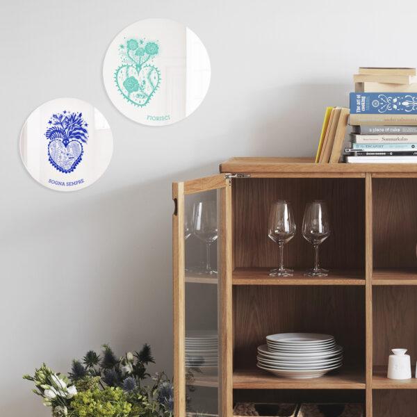 Specchi ex-voto   Cuori Sacri illustrazione di Enrica Mannari   BiCA-Good Morning Design