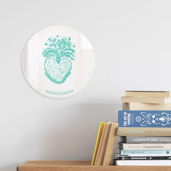 Specchio ex-voto decorativo   Cuori Sacri illustrazione di Enrica Mannari   BiCA-Good Morning Design
