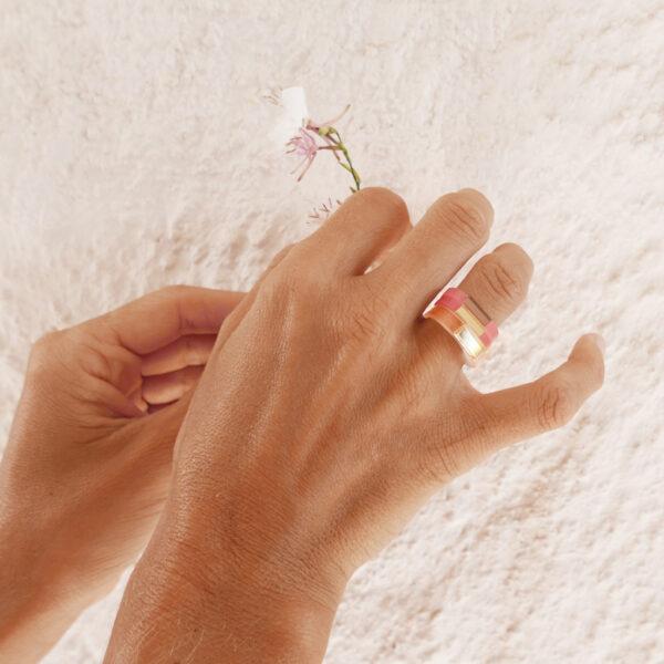 Anelli minimal geometrici oro argento bronzo rosa | Anelli Gemme | Italian design shop online | BiCA - Good Morning Design
