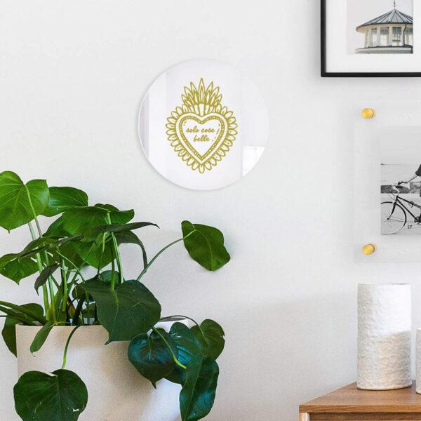 SOLO COSE BELLE   Specchio tondo cuore sacro   BiCA - Good Morning Design