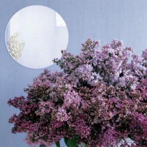 Specchio decorativo con illustrazione dorata di Monika Forsberg | BiCA-Good Morning Design