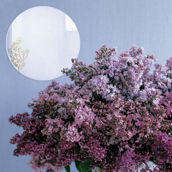 Specchio decorativo con illustrazione dorata di Monika Forsberg   BiCA-Good Morning Design