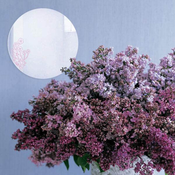 Specchio decorato rosa e illustrato da Monika Forsberg   BiCA-Good Morning Design