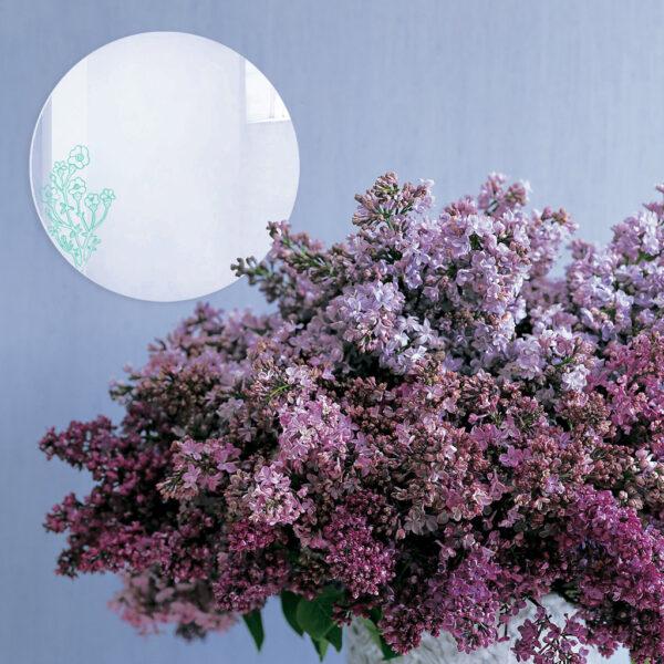 Specchio decorativo con illustrazione turchese di Monika Forsberg   BiCA-Good Morning Design